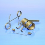 Three double torsion spring components