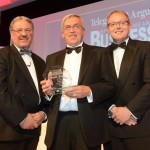 Brian Cooper, of Airedale Springs, being presented with the award for Employer of the Year with Telegraph and Argus editor Perry Austin-Clarke, and Paul Young, of Gordons Solicitors