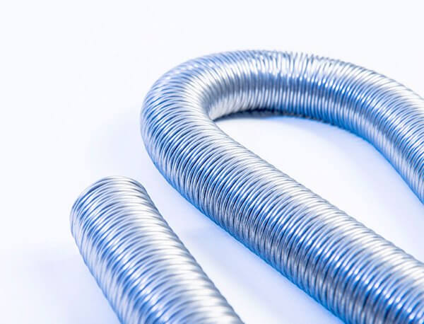 close up of bendy hose springs
