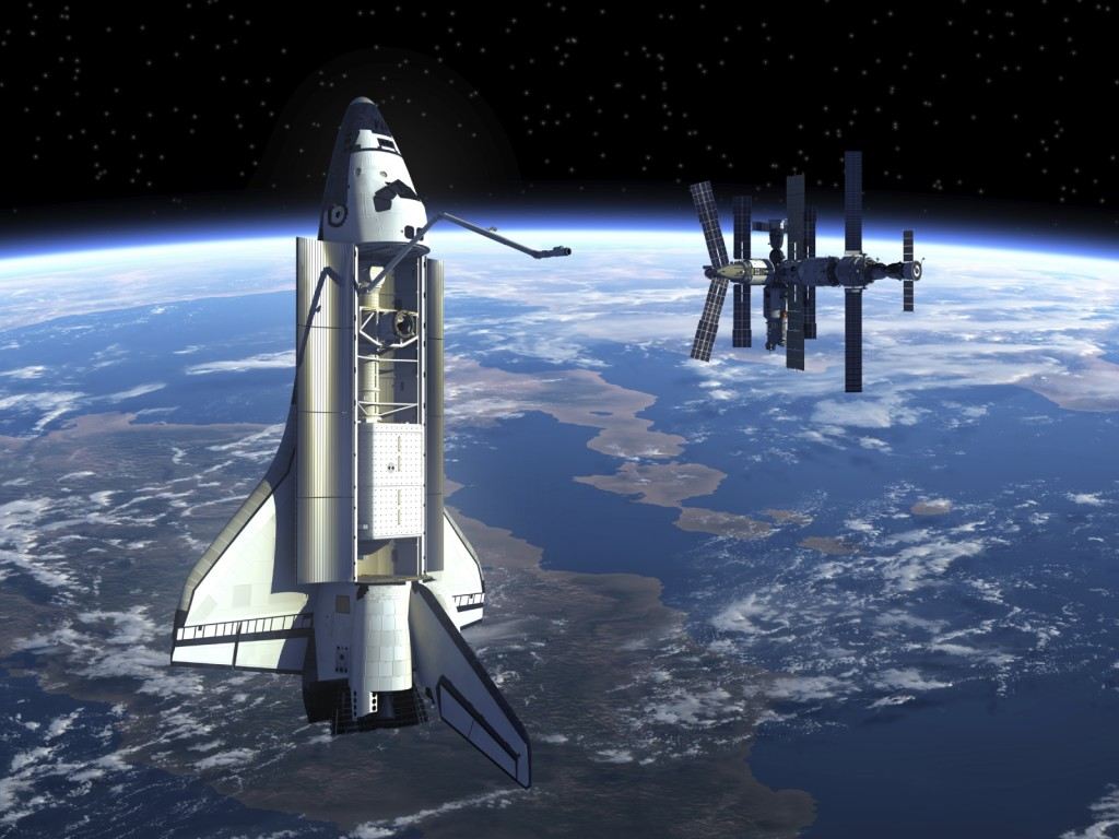 Space station and shuttle iStock_000039731598_Medium