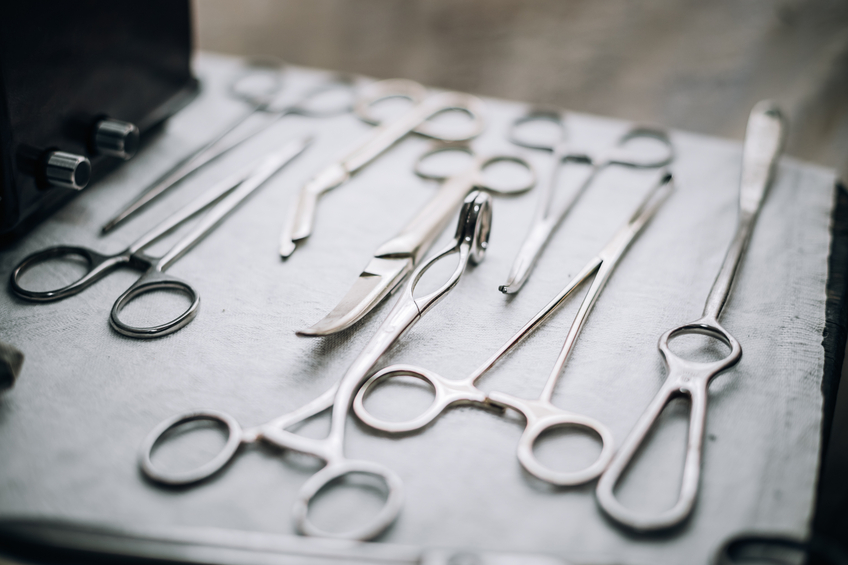 Old medical and surgical instruments
