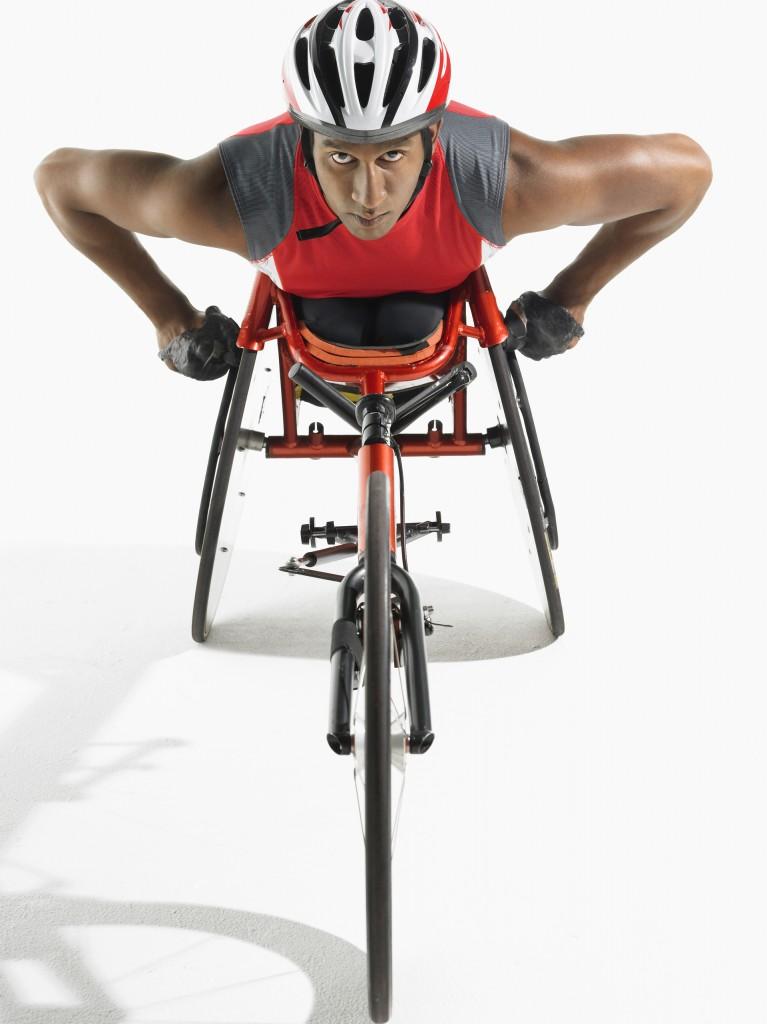 Confident Paraplegic Cycler on a fashionable bike