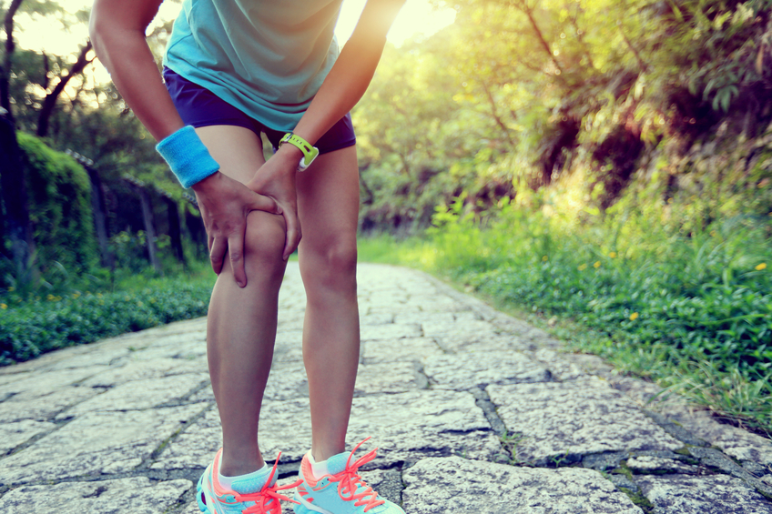 Runner with Bad Knee
