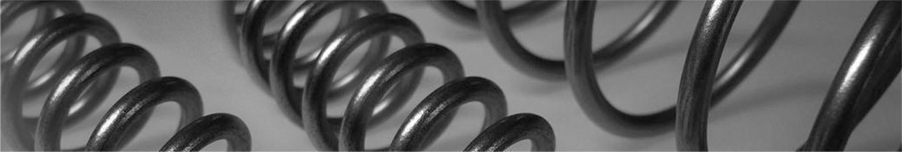 close up of spring coils