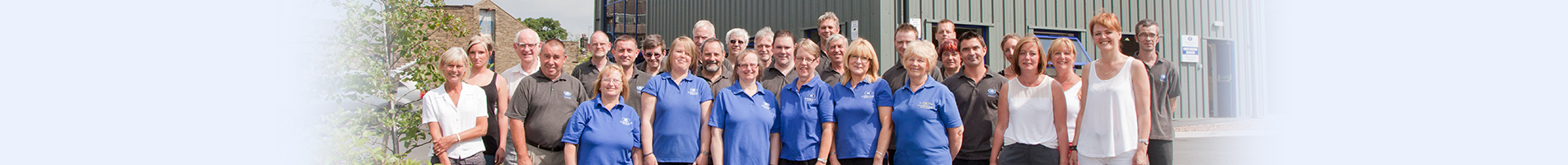 the airdale springs team stood outside the manufacturing office