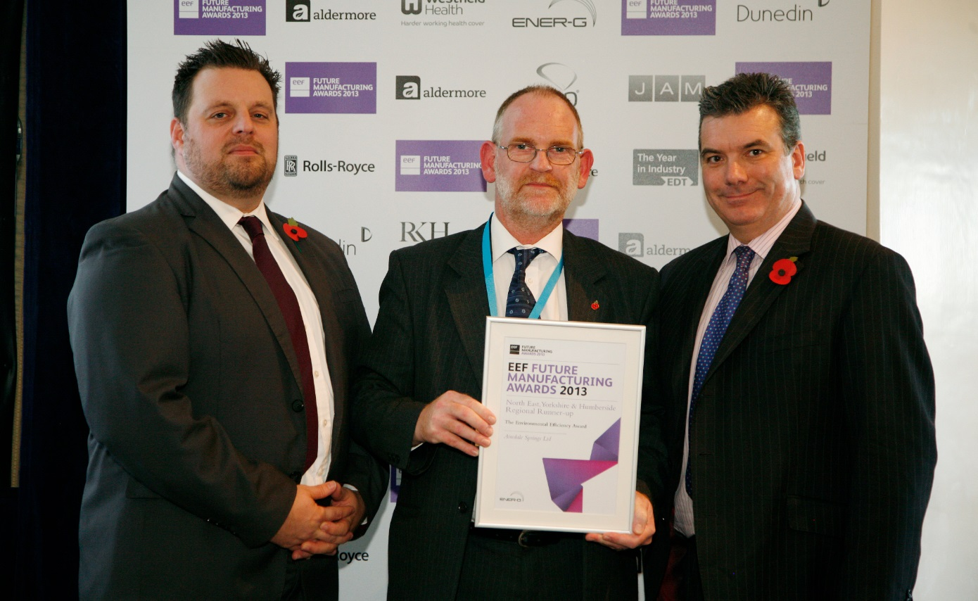 Airedale chairman and colleagues showing their EEF Environmental Efficiency Award