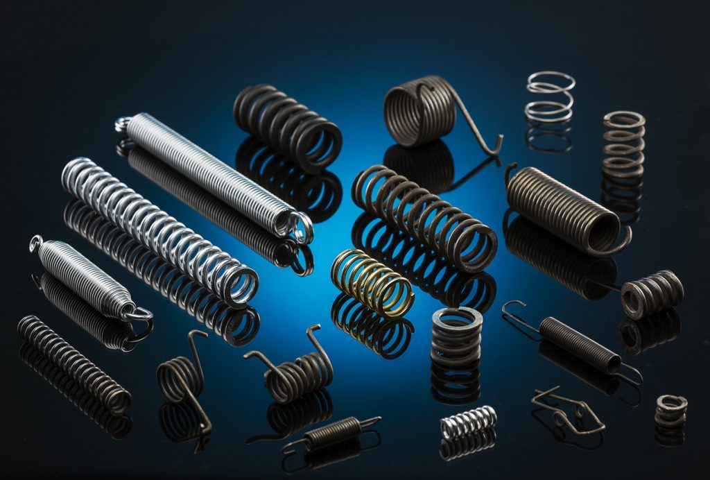 different types of metal springs or coil springs