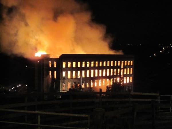 Fire at Ebor Mills