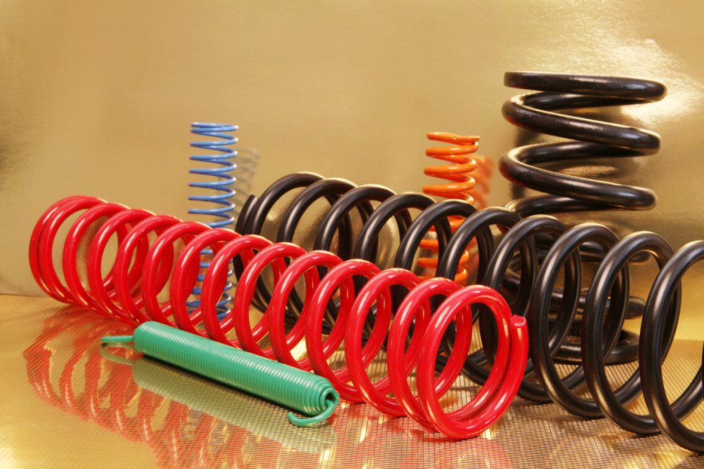 metal springs of different sizes